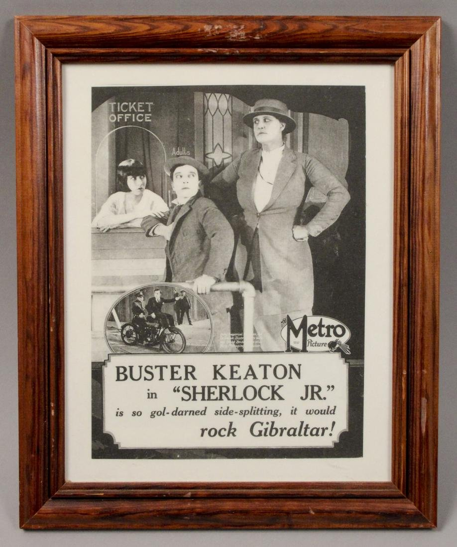 2 Framed Buster Keaton Sherlock Jr. Movie Posters - 2