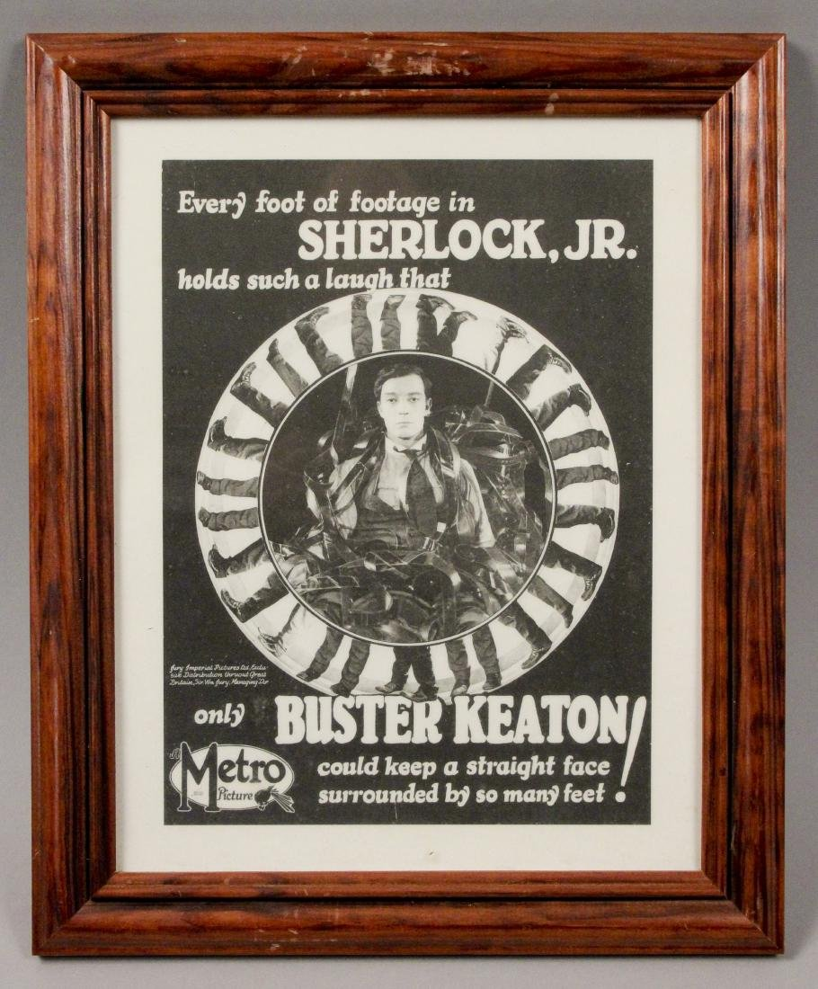 2 Framed Buster Keaton Sherlock Jr. Movie Posters - 5