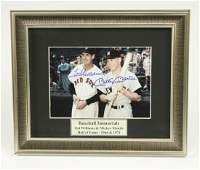 Signed Ted Williams & Mickey Mantle Photo
