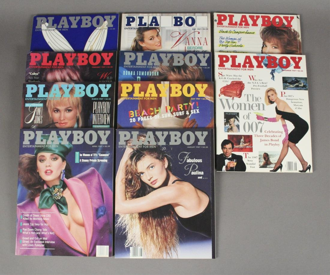 1987 Playboy Magazines - 10 Issues