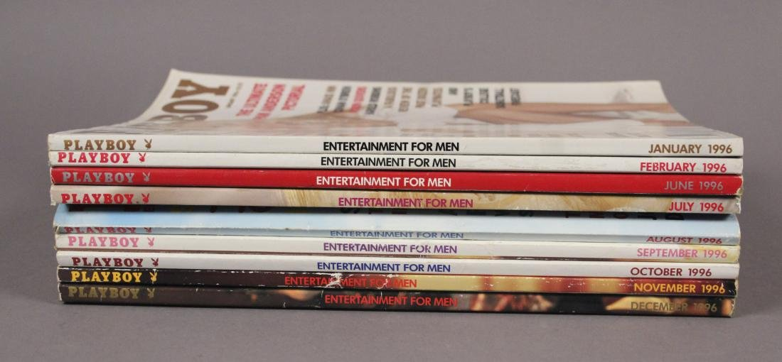 1996 Playboy Magazines - 9 Issues - 2