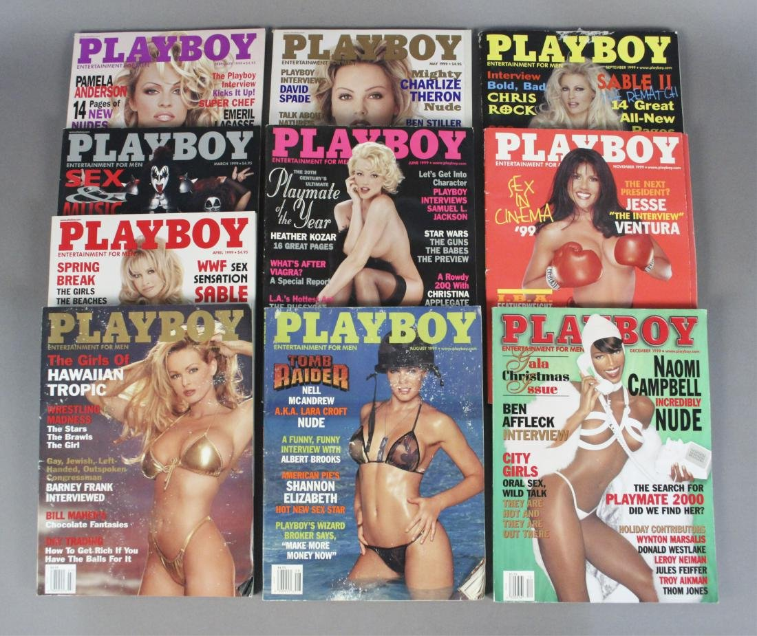 1999 Playboy Magazines - 10 Issues