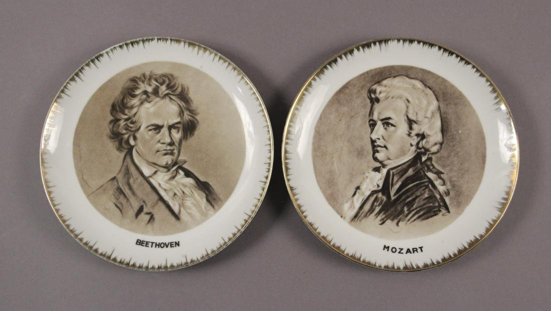 Collectible Plates - Will Rogers - Mozart - Brahms - 2