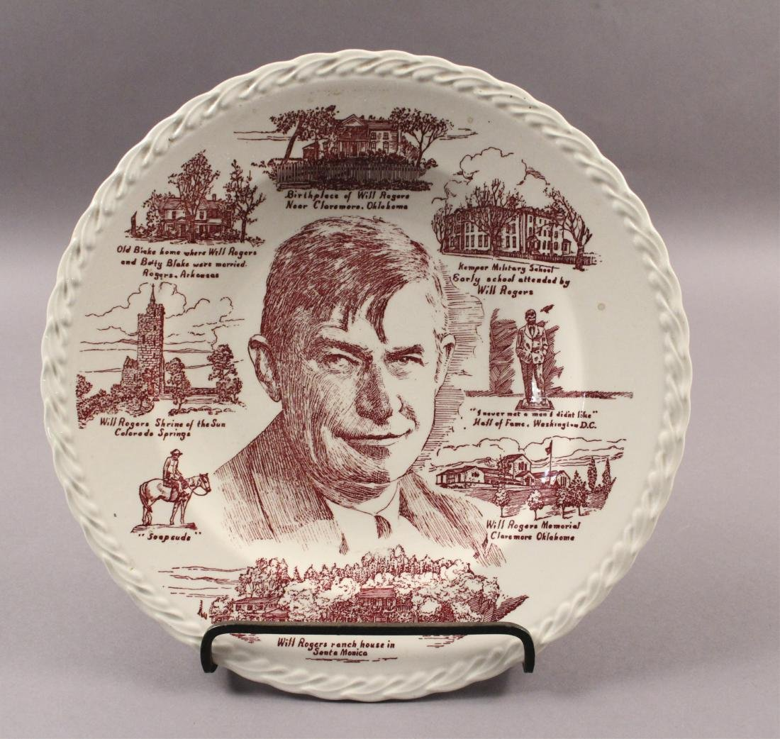 Collectible Plates - Will Rogers - Mozart - Brahms - 6