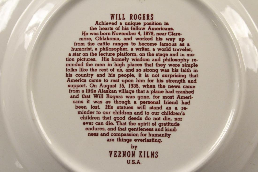 Collectible Plates - Will Rogers - Mozart - Brahms - 7
