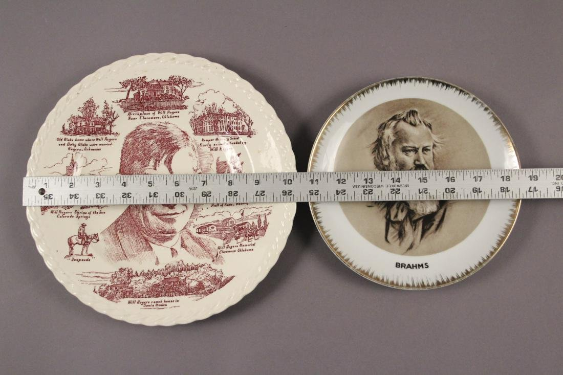 Collectible Plates - Will Rogers - Mozart - Brahms - 8