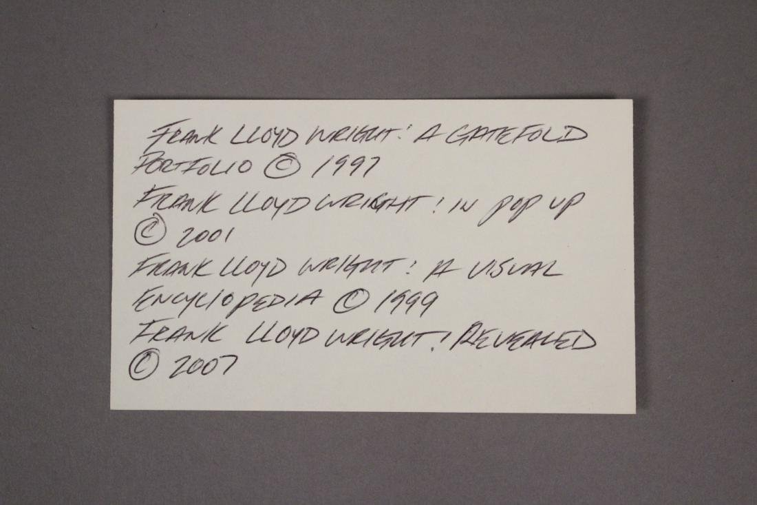 4 Frank Lloyd Wright Architecture Books - 7