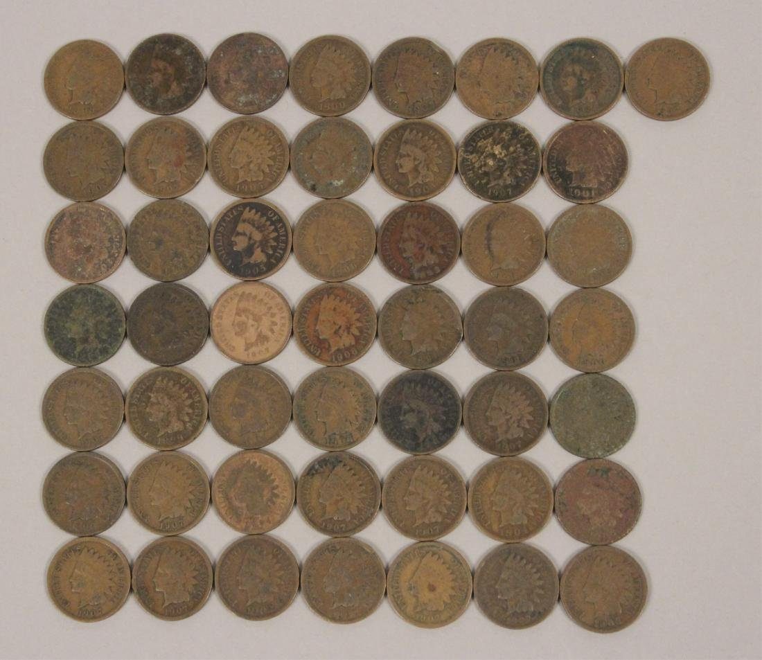 50 Indian Head Cent Pennies