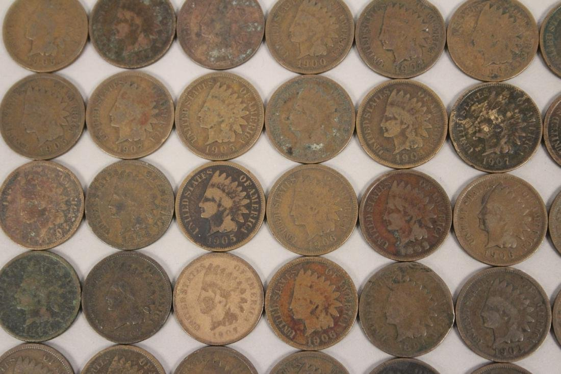 50 Indian Head Cent Pennies - 2