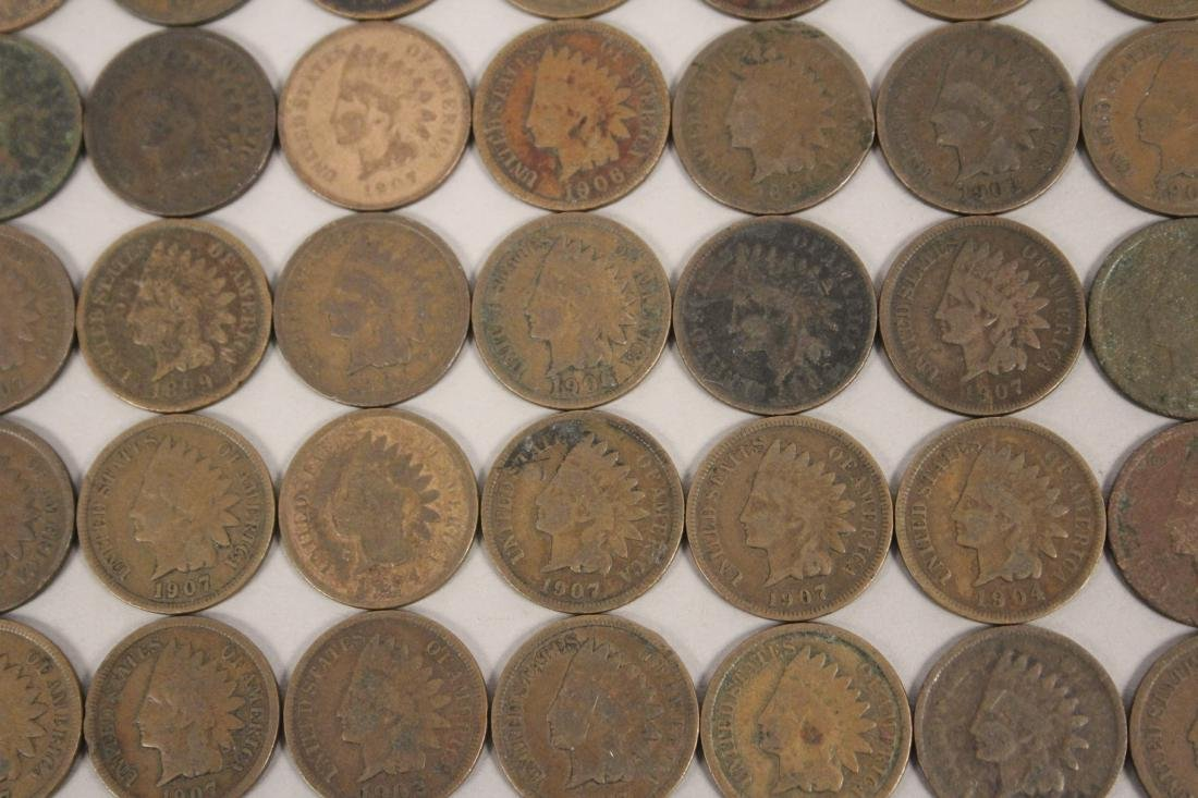 50 Indian Head Cent Pennies - 3