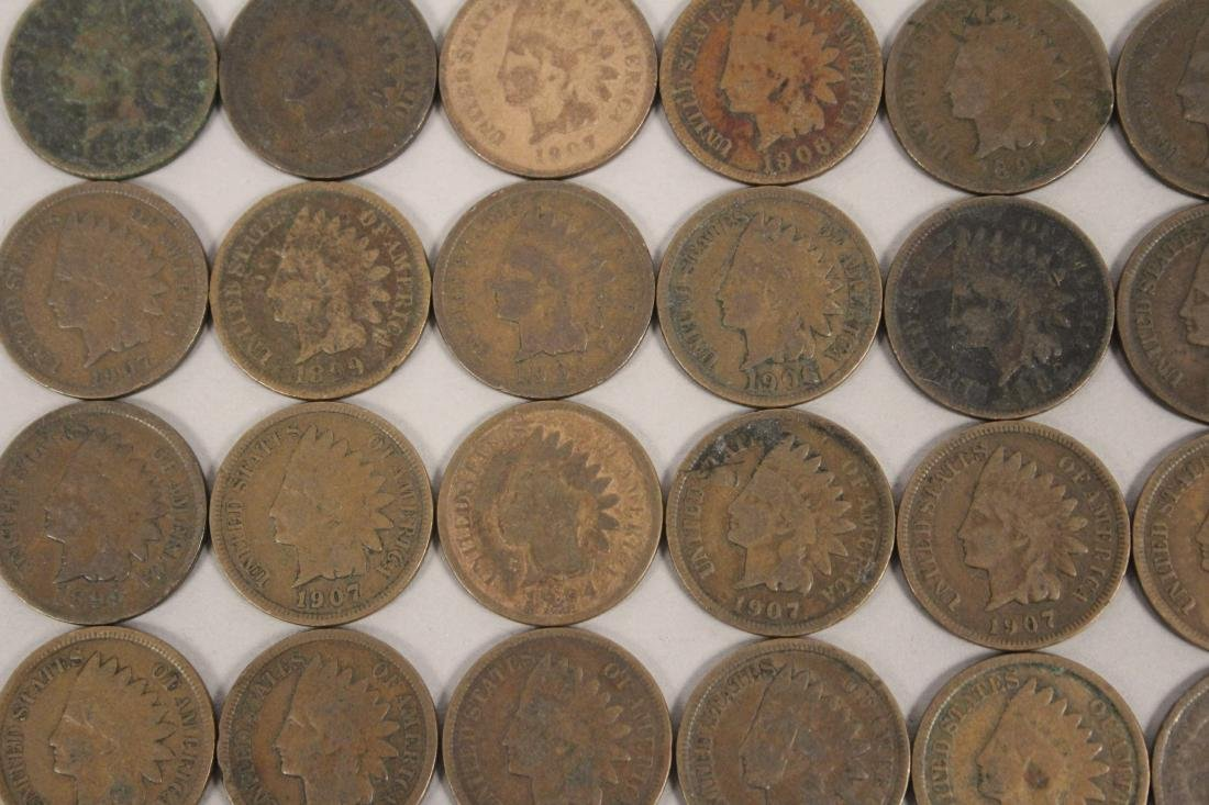 50 Indian Head Cent Pennies - 4