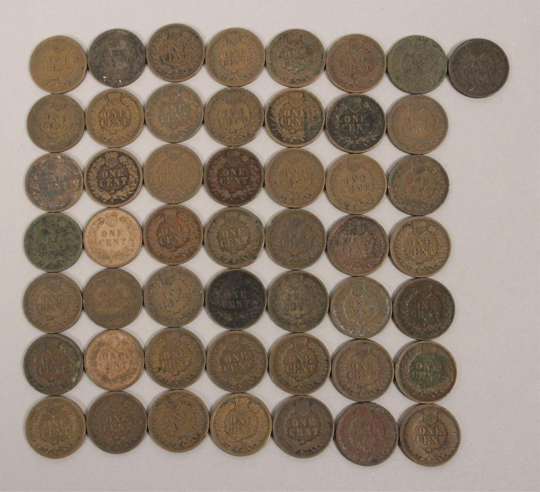 50 Indian Head Cent Pennies - 5