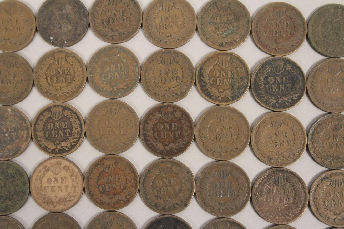50 Indian Head Cent Pennies - 7