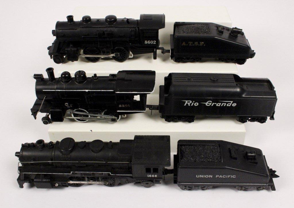 3 Vintage Lionel Locomotives & Tenders