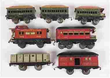 Tin American Flyer Lines & The Joy Line Train Cars