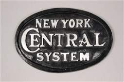 Metal New York Central System Sign