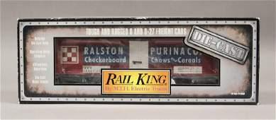 MTH 308625 Rail King Ralston Purina Reefer Car