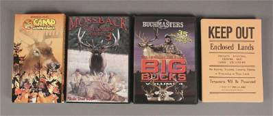 2 Hunting DVDs 1 Comedy VHS Pamphlets