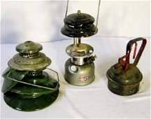 3 Vintage Fuel Can, Coleman & Lantern Lot