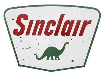 Sinclair Enamel Dino Gas Service Station Sign