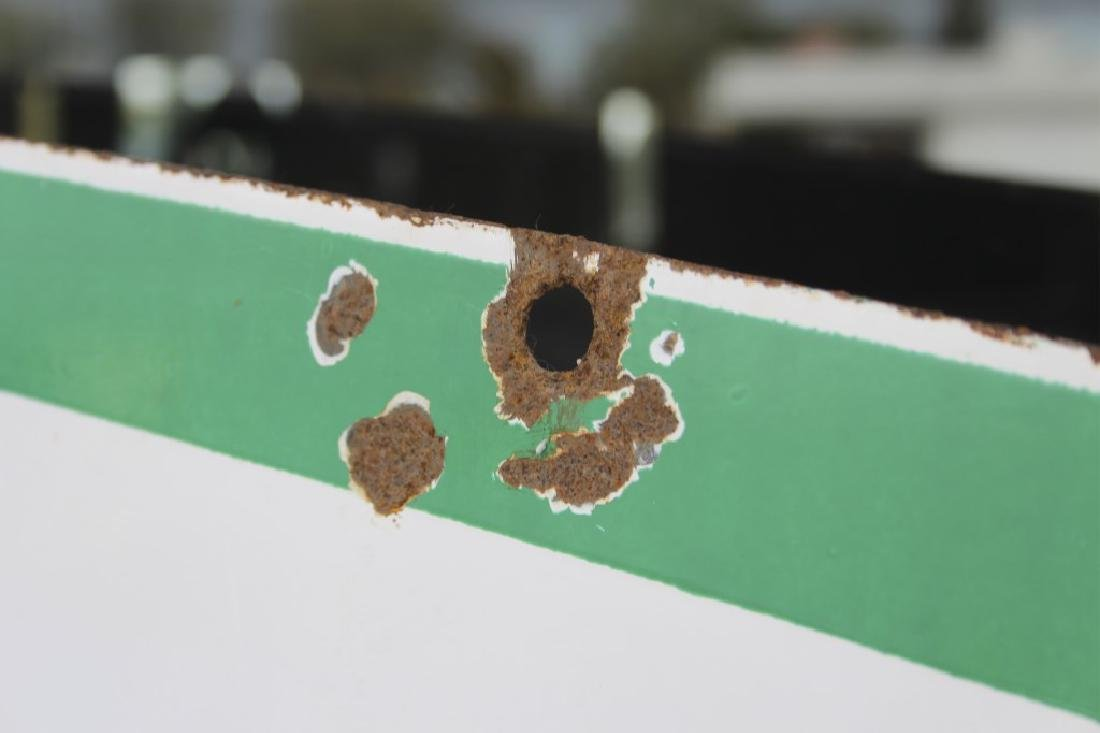 Sinclair Enamel Dino Gas Service Station Sign - 4