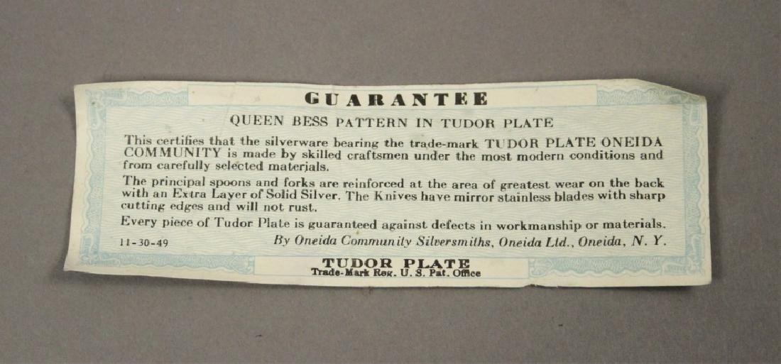 Oneida Queen Bess 85 Piece Tudor Plate Silverware - 4