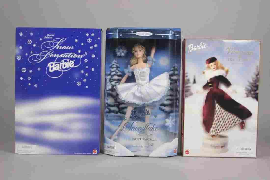 Victorian Ice Skater, Snowflake & Snow Barbie