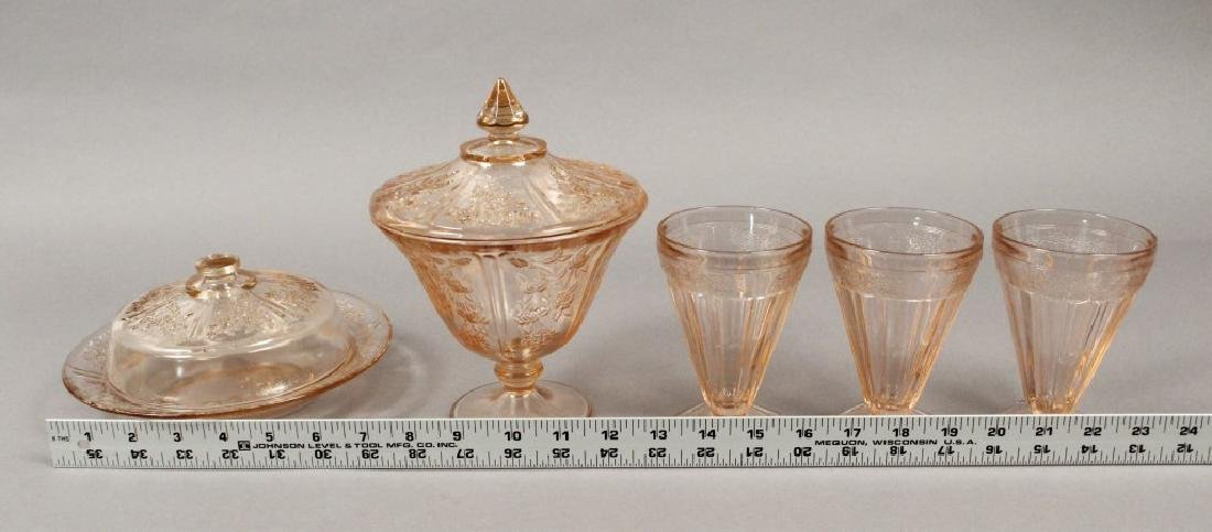 Vintage Assorted Pink Depression Glass - 2