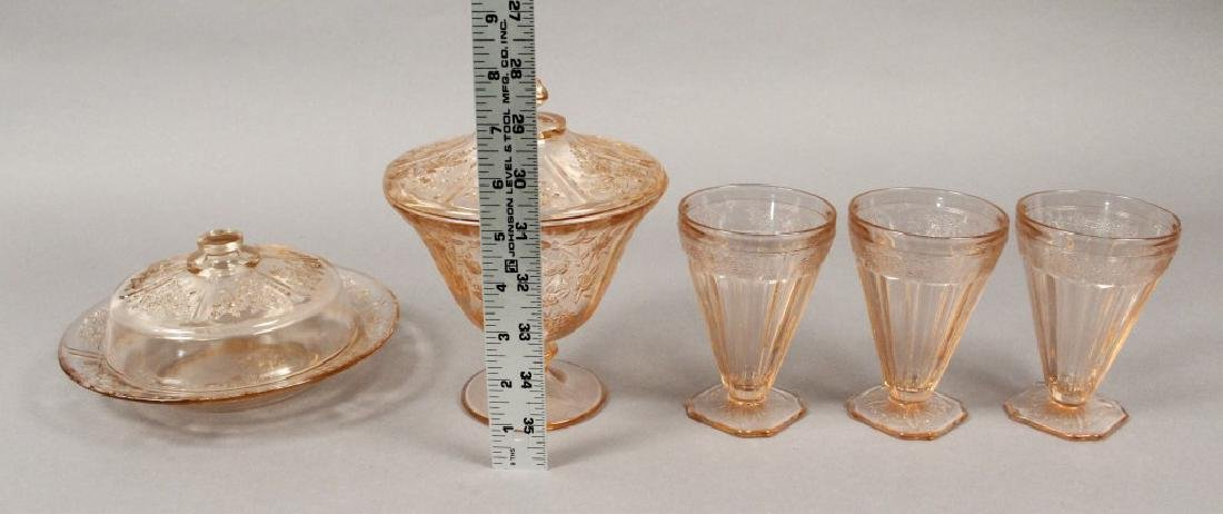 Vintage Assorted Pink Depression Glass - 3