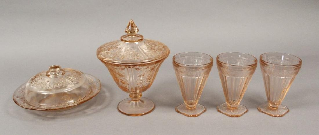 Vintage Assorted Pink Depression Glass - 4