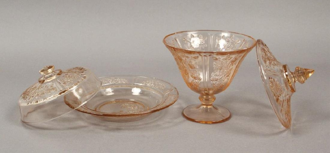 Vintage Assorted Pink Depression Glass - 5