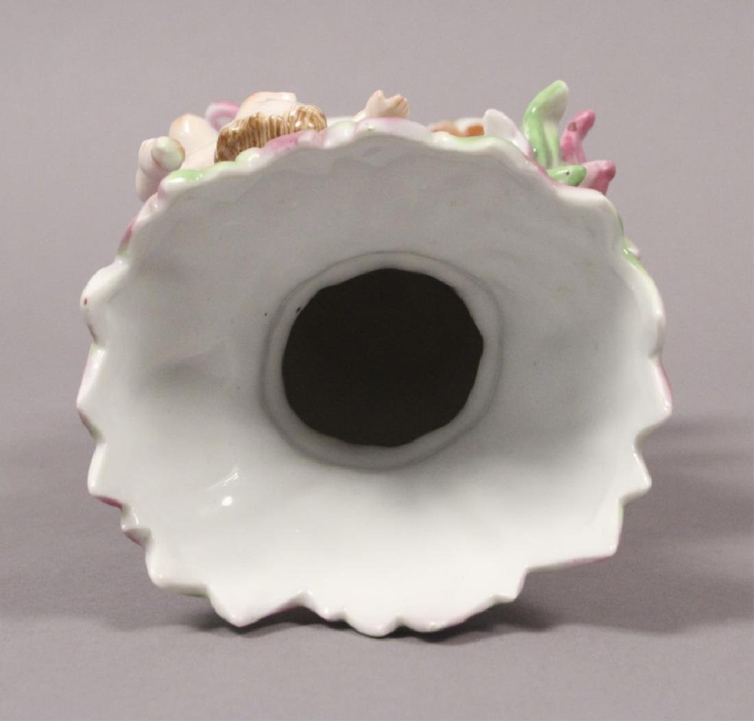 Camille Naudot Porcelain Capodimonte Cherub Vase - 6