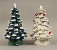 2 Vintage Holland Mold Ceramic Christmas Trees
