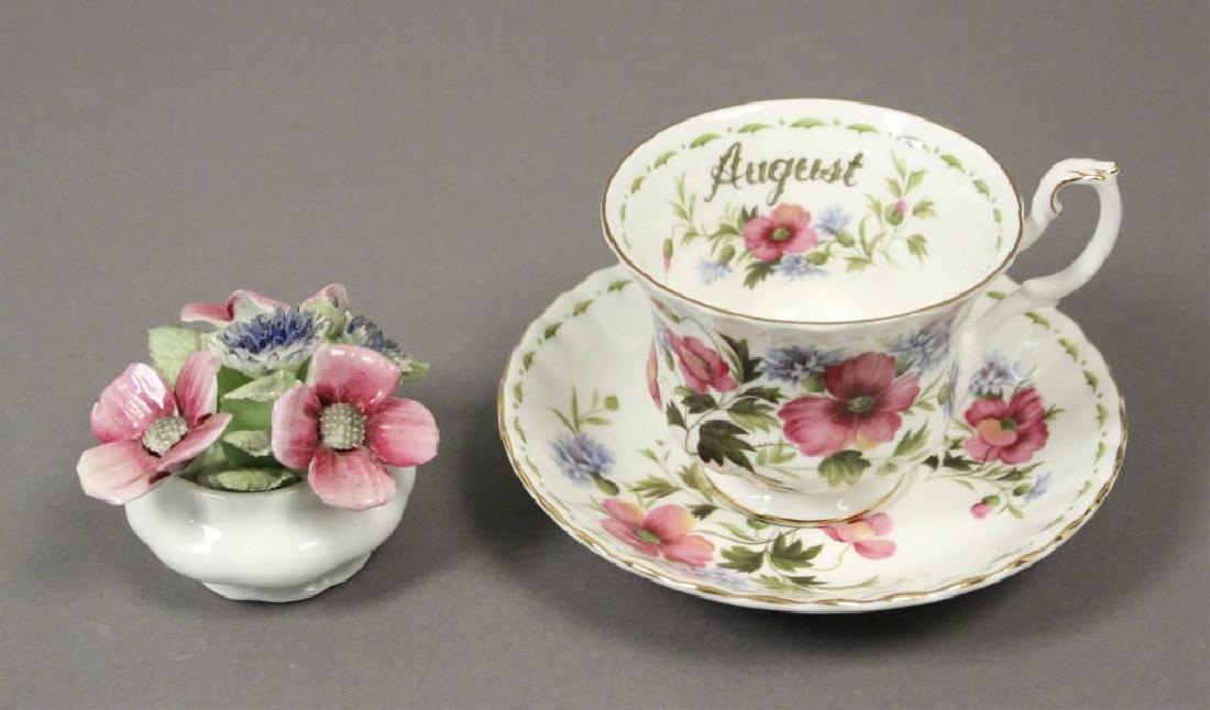 Royal Albert August Poppy Tea Cup & Figurine
