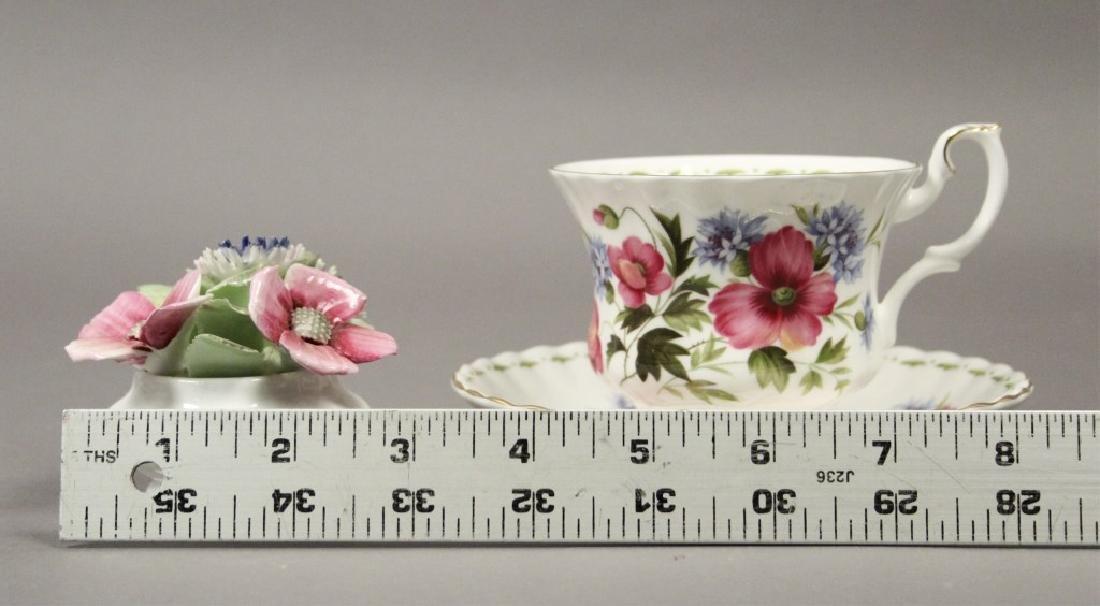 Royal Albert August Poppy Tea Cup & Figurine - 2