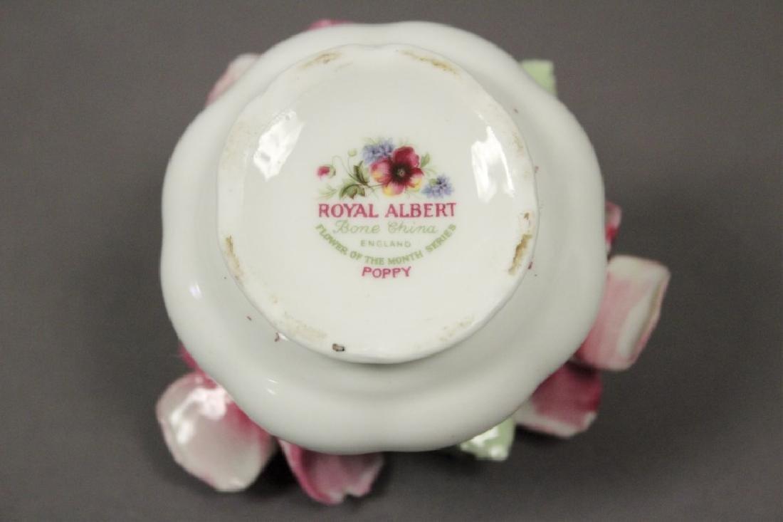 Royal Albert August Poppy Tea Cup & Figurine - 4