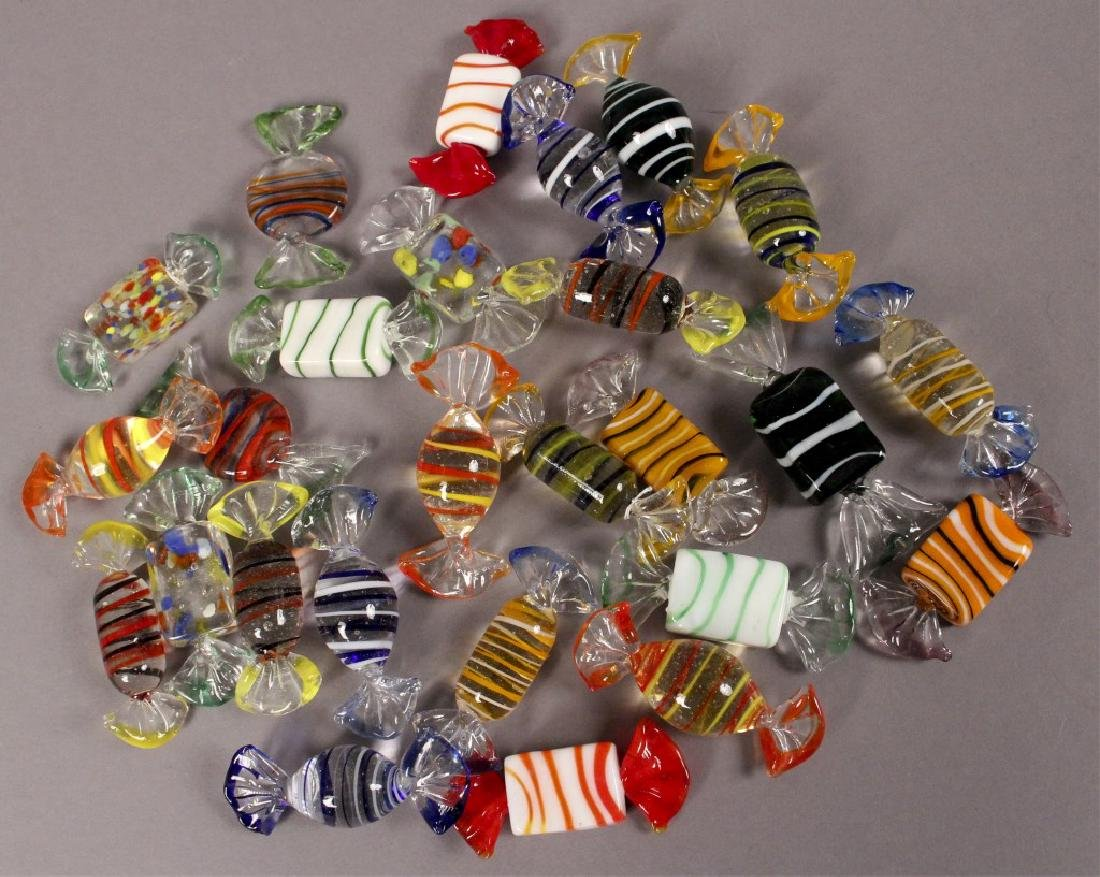 Murano Style Glass Candy Decorations