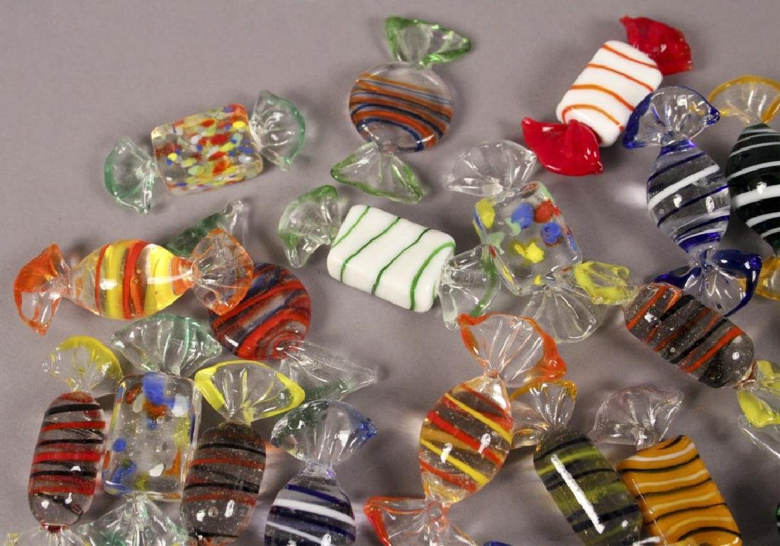 Murano Style Glass Candy Decorations - 4