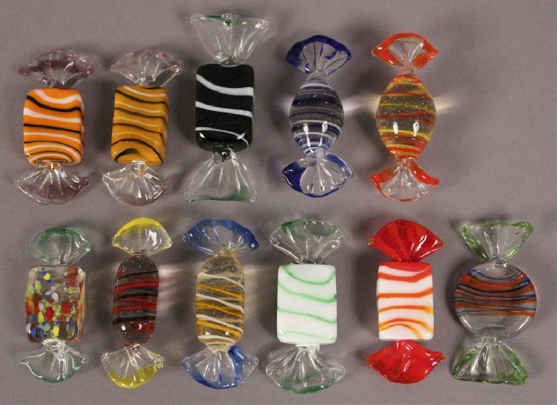 Murano Style Glass Candy Decorations - 5