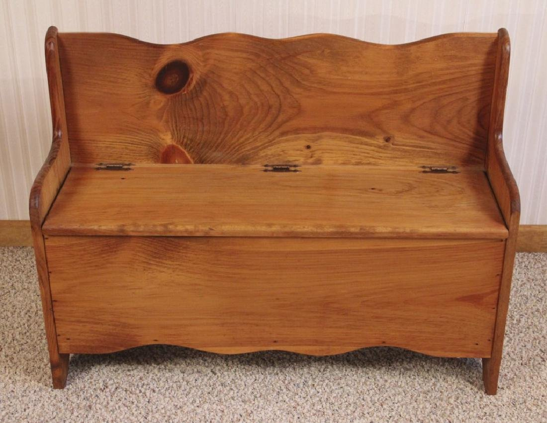 Wooden Bench with Storage - 2