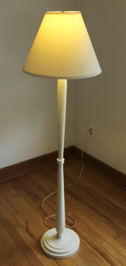 White Wooden Floor Lamp - 2