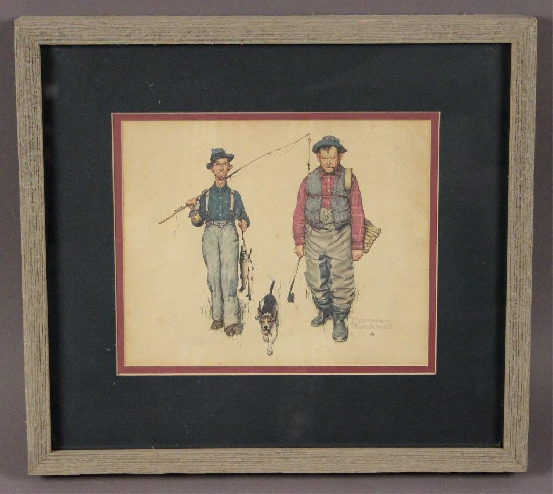 Norman Rockwell Framed & Matted Print