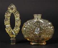 Vintage Fenton Carnival Glass Perfume Bottle