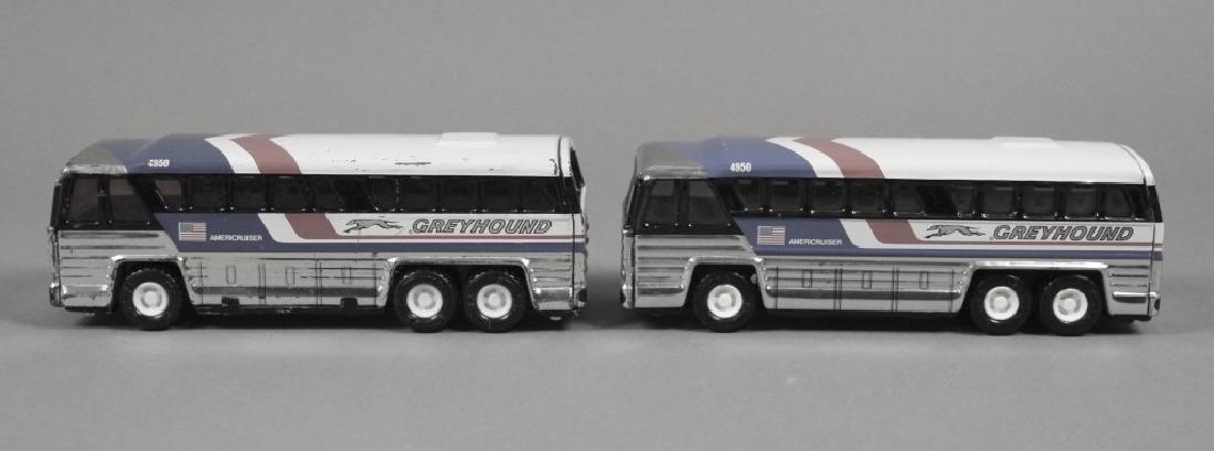 2 Vintage 1979 Buddy L Greyhound Busses