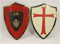 2 Medieval Crusader All Metal Shields
