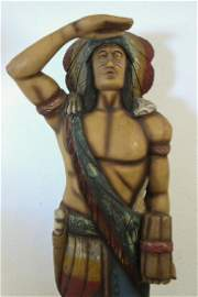 "5' 9"" Tobacco Cigar Indian Wood Statue"