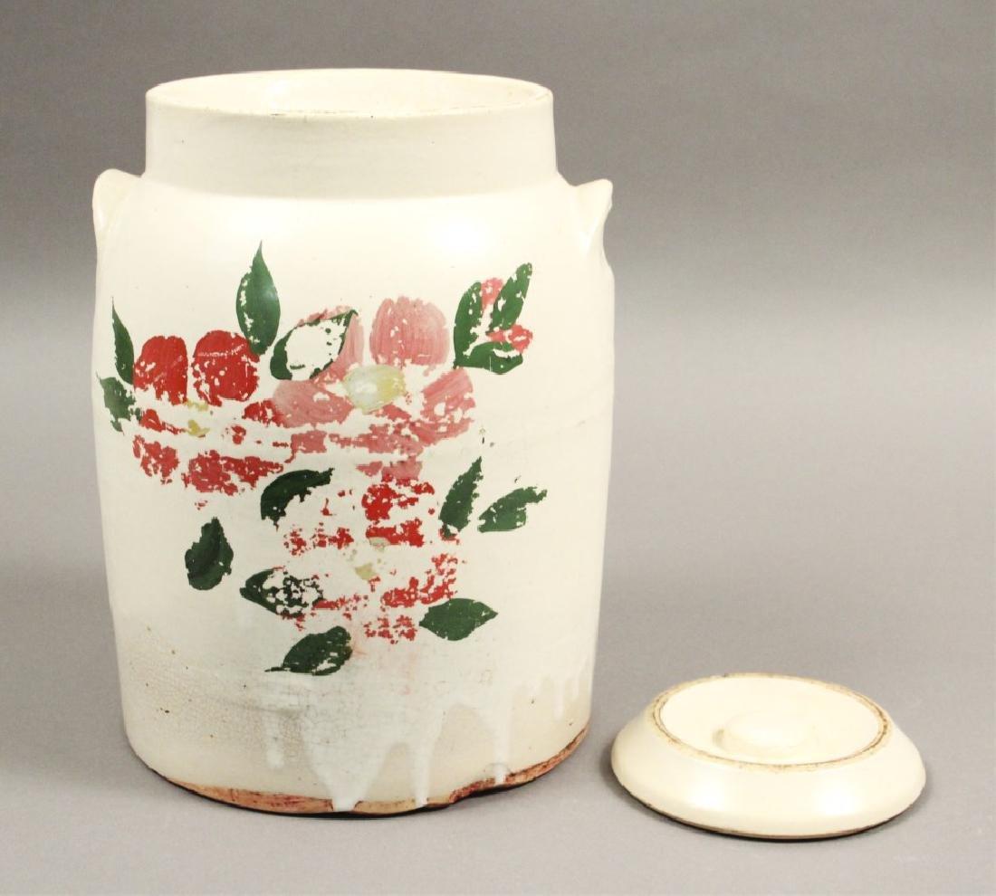 2 Vintage Ceramic Floral Cookie Jars - 2