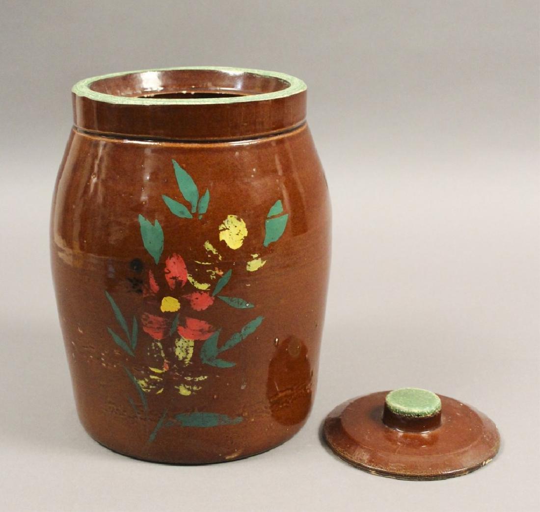 2 Vintage Ceramic Floral Cookie Jars - 3