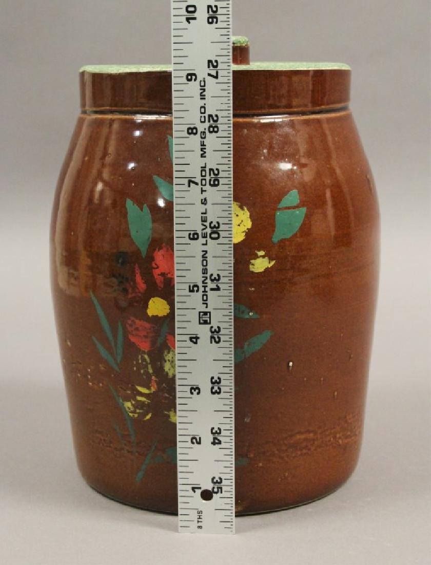 2 Vintage Ceramic Floral Cookie Jars - 4