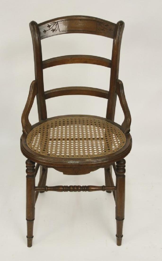 Cane Seat Captains Chair